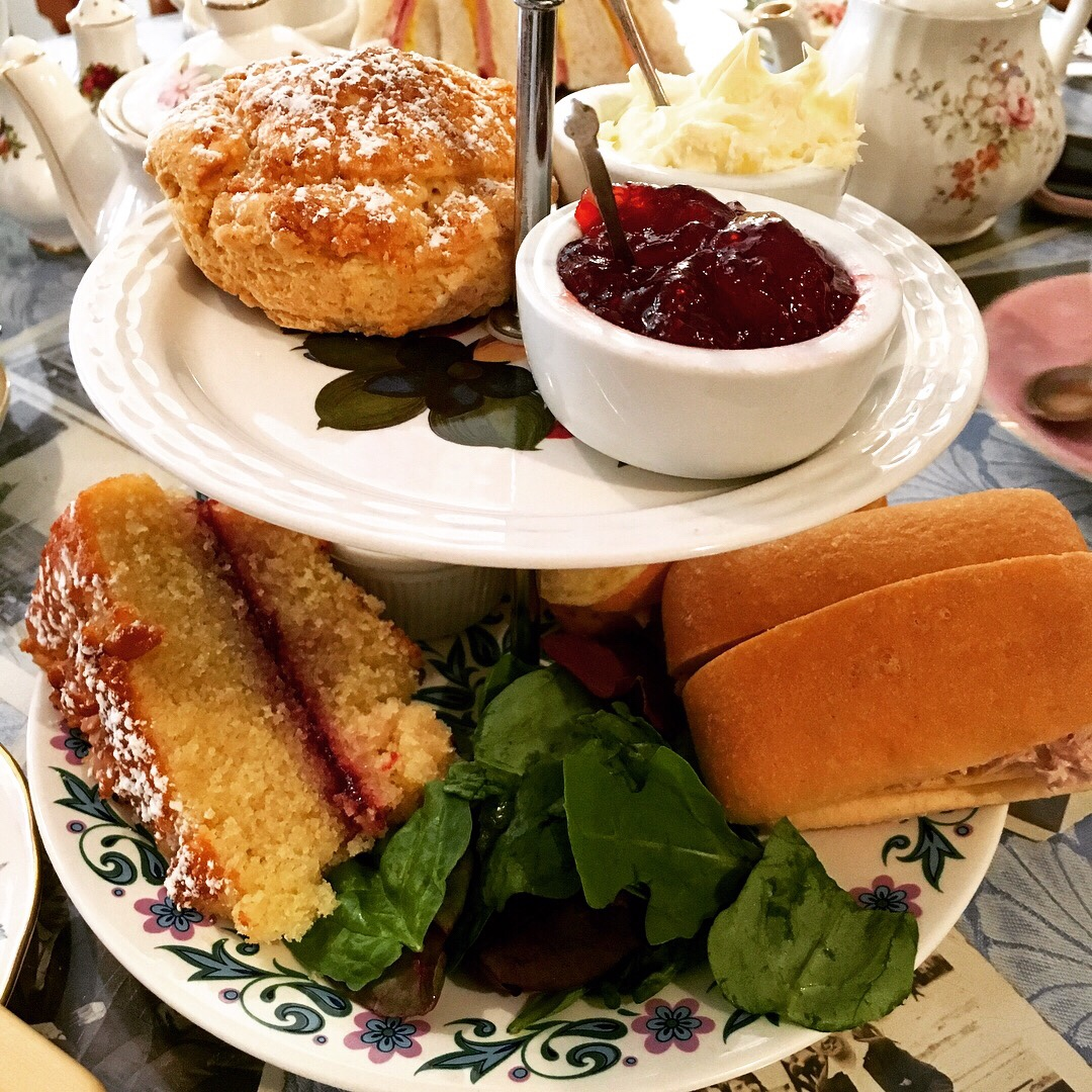 Gluten free afternoon tea at Bunty's tea room in Lincoln.