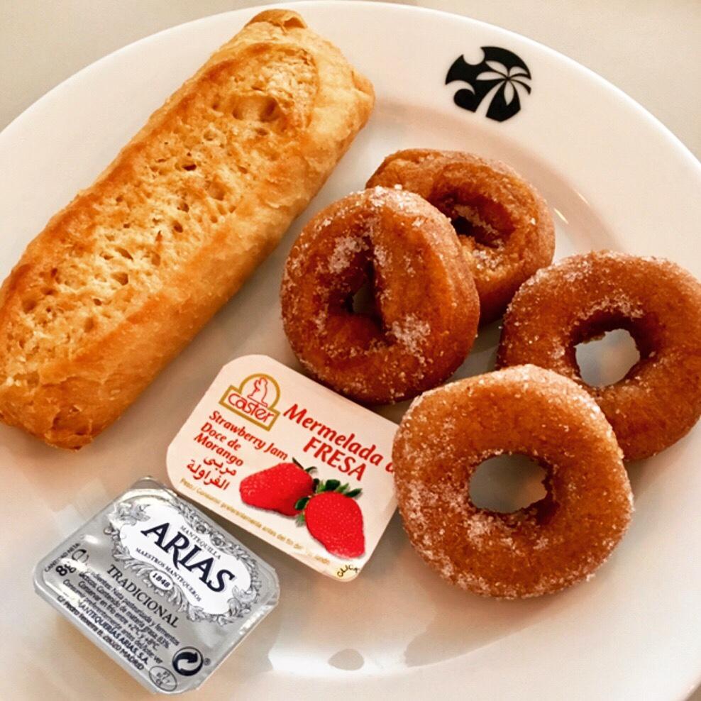 Gluten free doughnuts and baguette